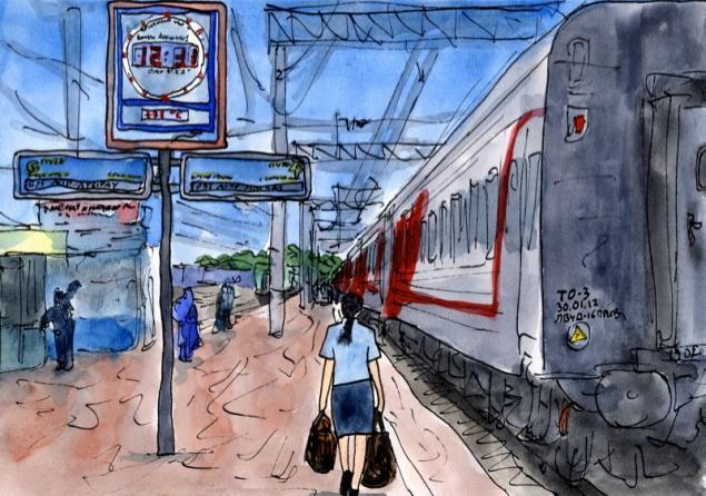 Путешествуем с Михаилом Щербаковым (Vokabre): быстрые зарисовки акварелью, фото № 19