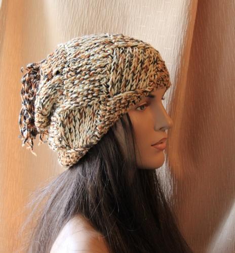 вязаная шапка, авторская шапка
