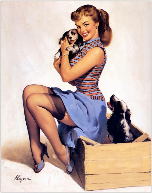 Открытки с девушками 50-х