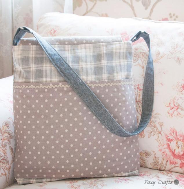 подарок 2014, зимняя сумка, снег, сумка в горошек