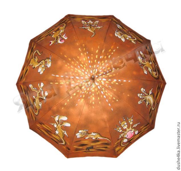 зонт, зонт женский, змей, зонт в подарок