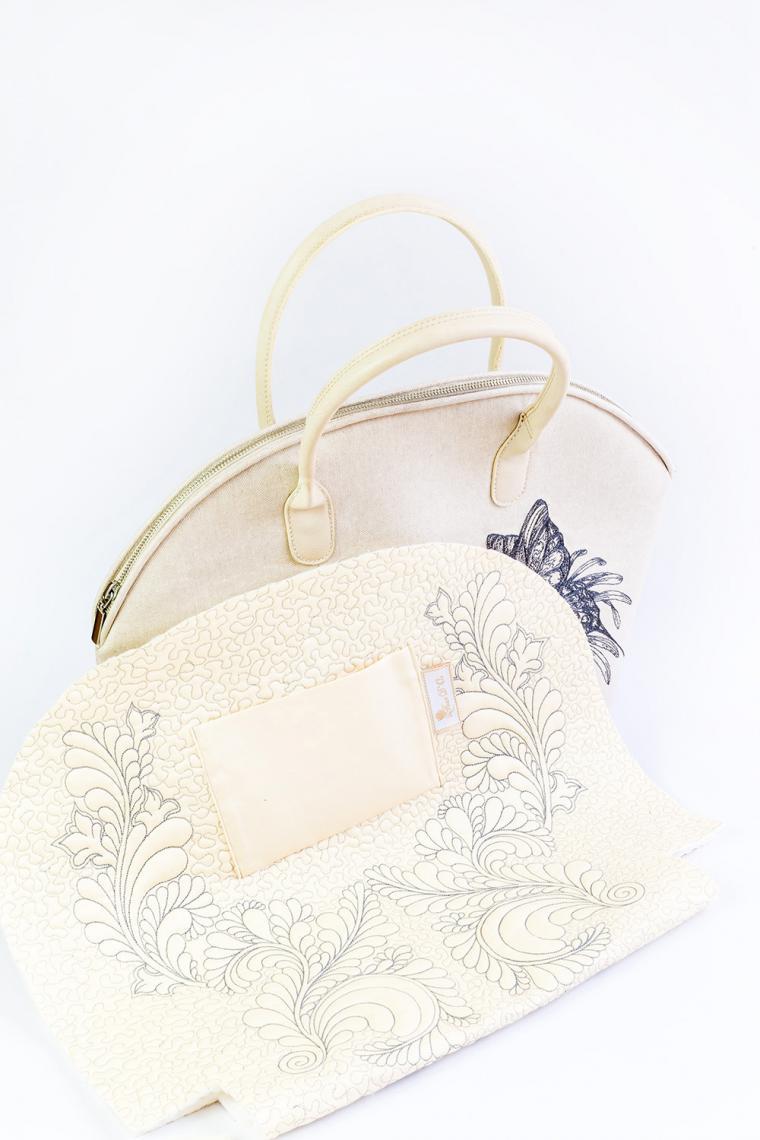 мастер-класс, fleur d or, сумка из льна, сумка с декором