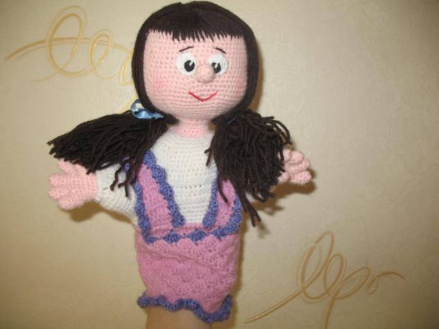 вязаная игрушка, кукла в подарок