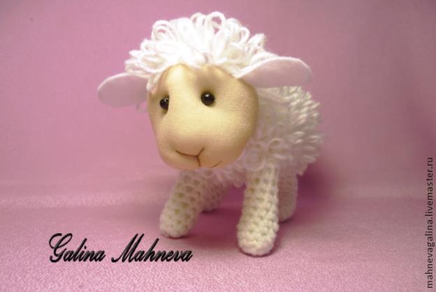 """钩针教程:""""新年小羊""""(大师班) - maomao - 我随心动"""