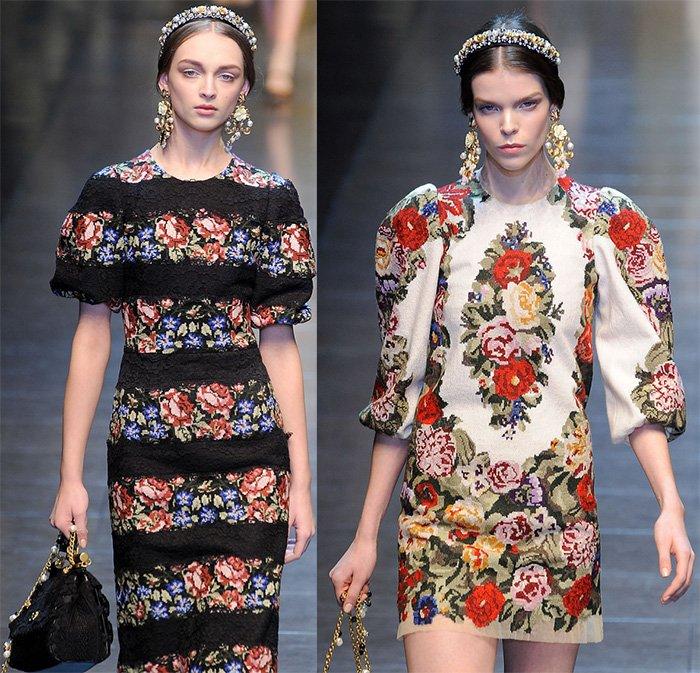 Вышивка в русском стиле на одежде
