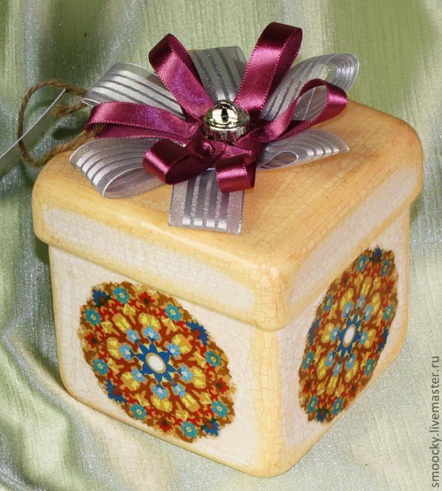 птица сирин, подарочный набор 2014, мк елочная игрушка