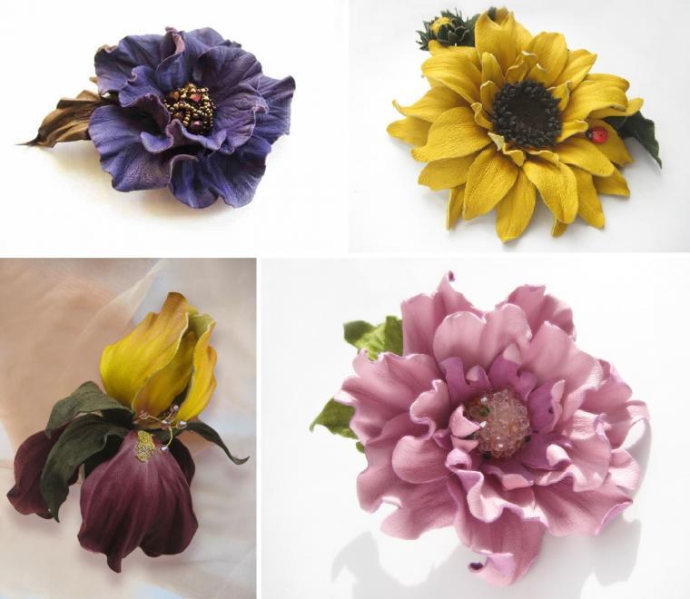 Книга цветы из кожи скачать бесплатно