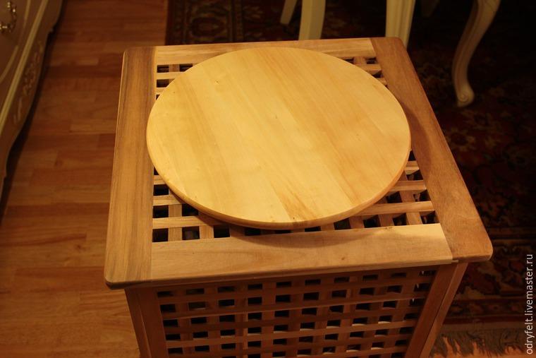 Мастерим поворотный стол для раскладки шерсти на шаблоне, фото № 6