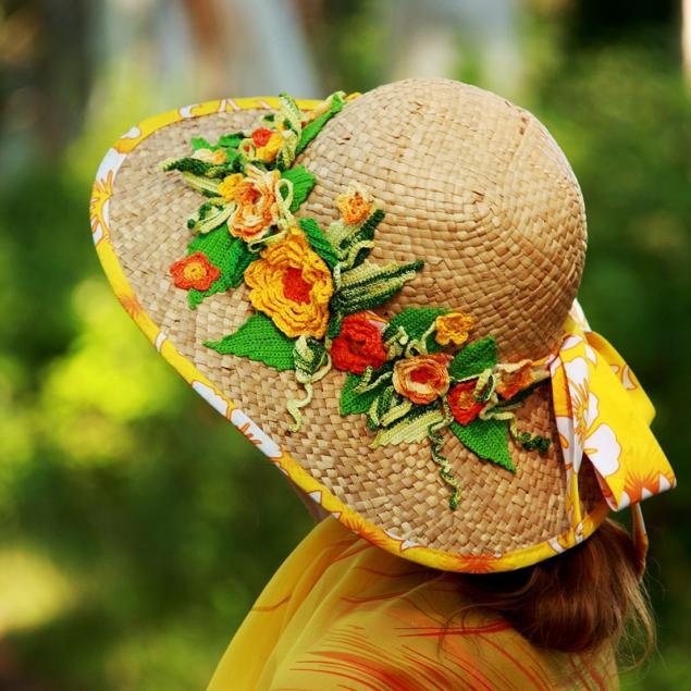Шляпы с цветами своими руками