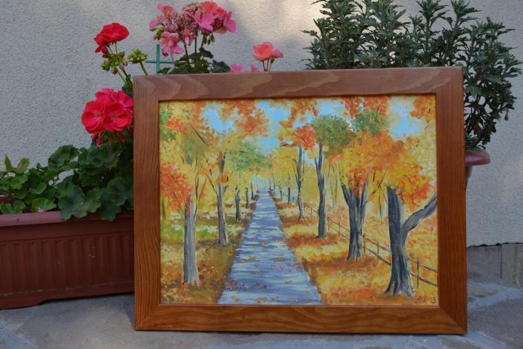 блог, живопись, живопись маслом, пейзаж, парк