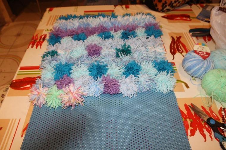 Процесс создания веселого коврика, фото № 13