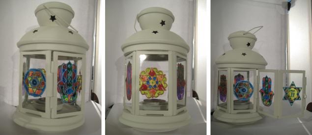 фонарь, роспись по стеклу, витражная роспись