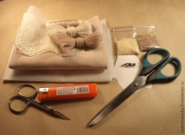 Текстильная брошь-мотылек, фото № 1