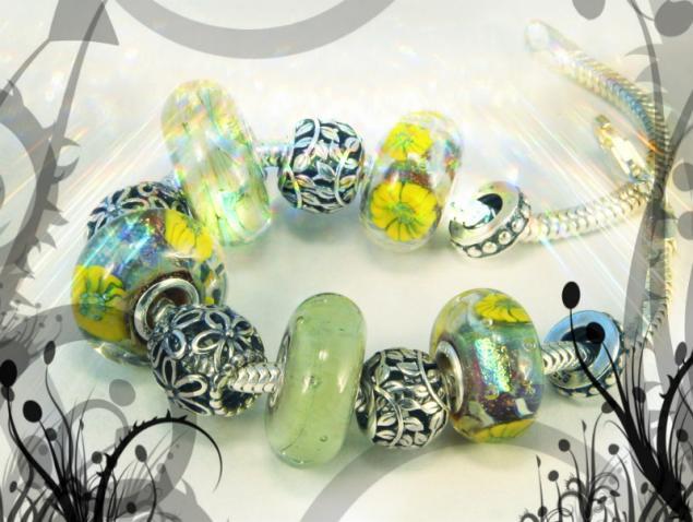 confettini-bead, lampwork, бусины для браслета