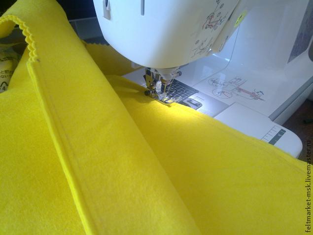 желтый фетр