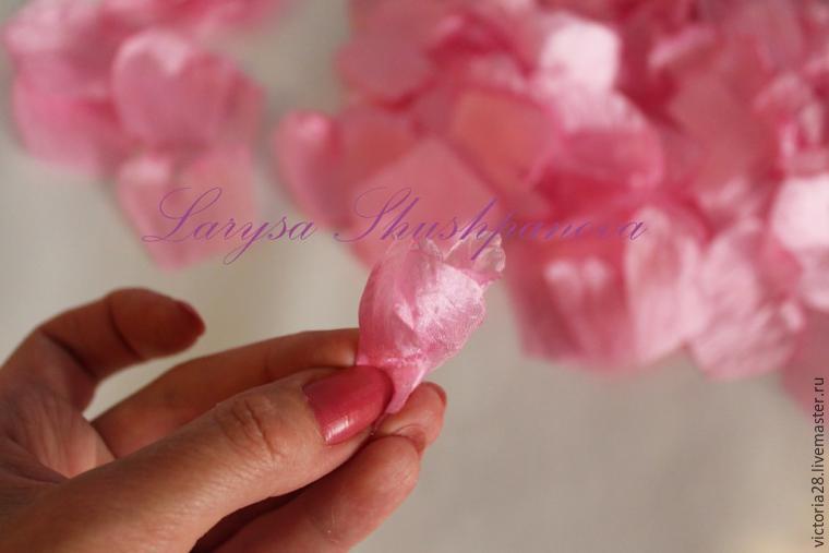 создание цветов из ткани