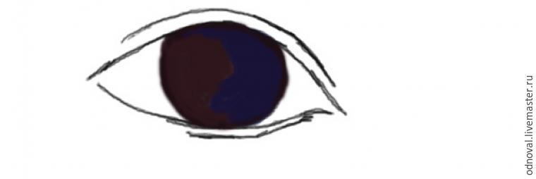 нарисовать глаза кукле, авторский мастер-класс