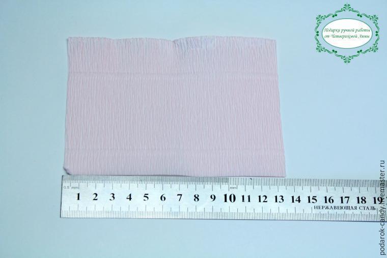 Пион из гофрированной бумаги