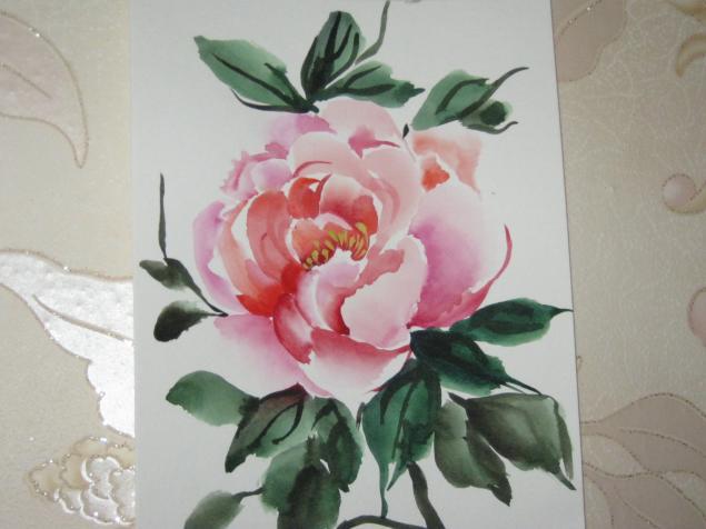 Красивые нарисованные цветы