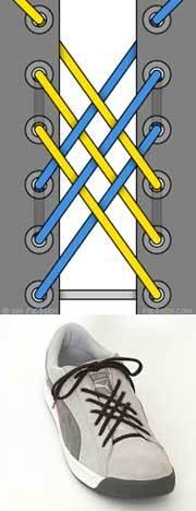 Оригинальные способы шнуровки ботинок. Виды и способы шнуровки., фото № 13