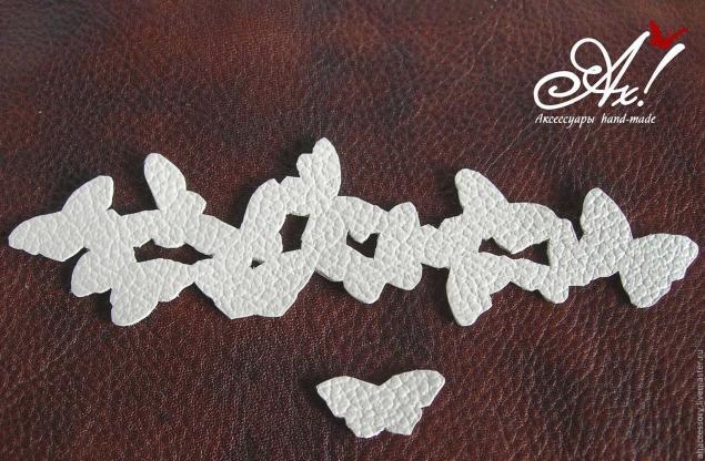 Как сделать бабочку из кожи