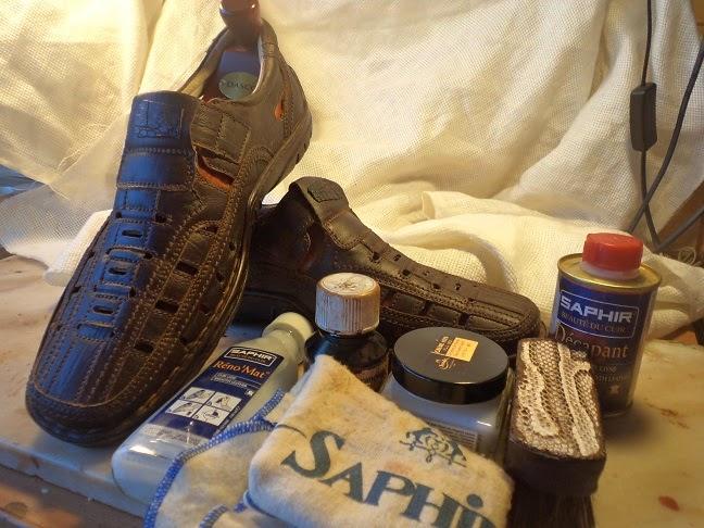 окраска обуви
