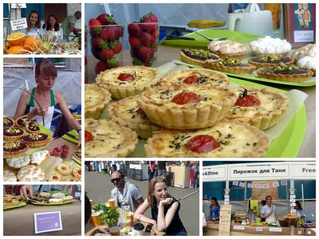 городской маркет еды, пирожок для тани, праздник, фестиваль, парк горького, тарталетки, клубника, киш, меренга, безе, фисташки, шоколад, лимонный крем, заварной крем, тарты, торты