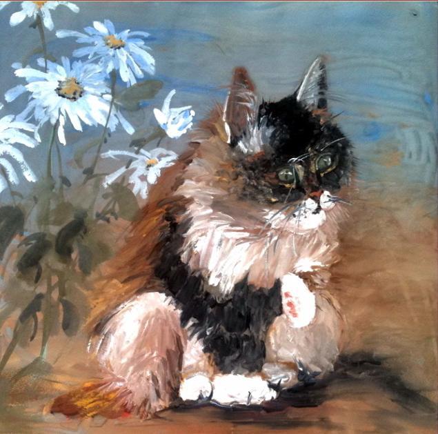 натали котова, творчество, мечта, цель, жизнь, счастье, кот, вьюнок, картина