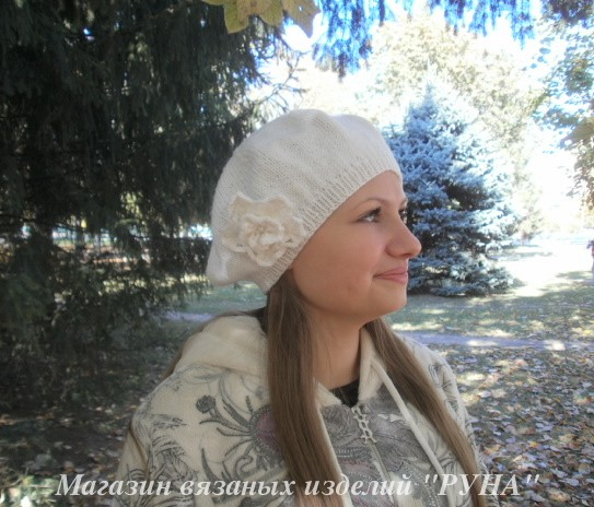 шапка и снуд в косах