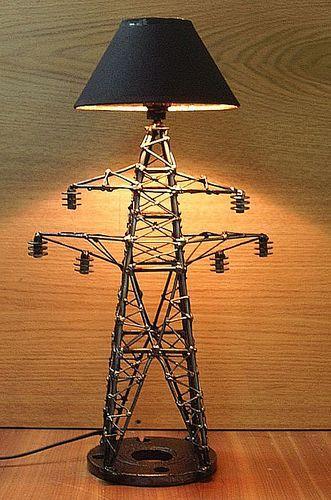 Металлический светильник своими руками