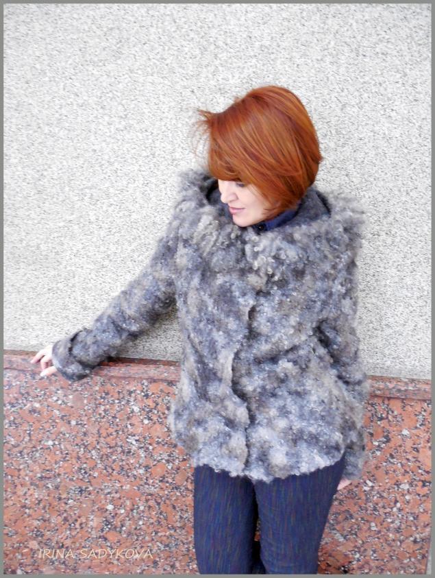 мастер-класс по валянию, куртка, шубка, верхняя одежда, экомех, садыкова ирина