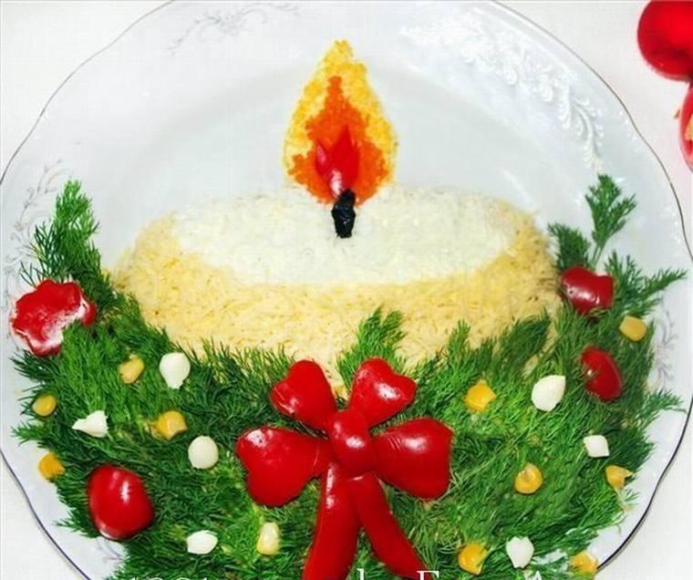 новогодние блюда рецепты с фотографиями Известен павлин прежде