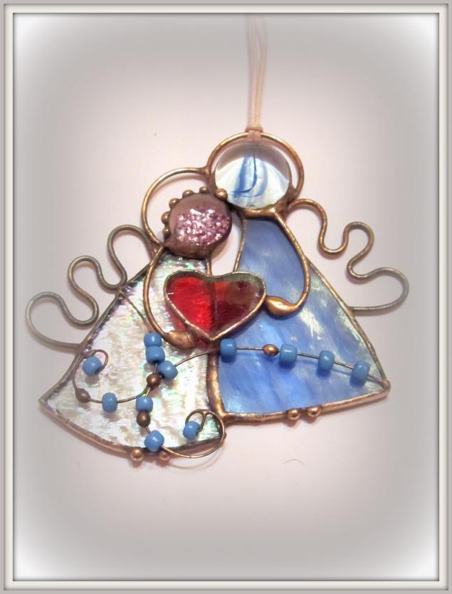 аукцион, день всех влюбленных, день святого валентина, 8 марта, подарок, витраж тиффани, ангелы, сердце