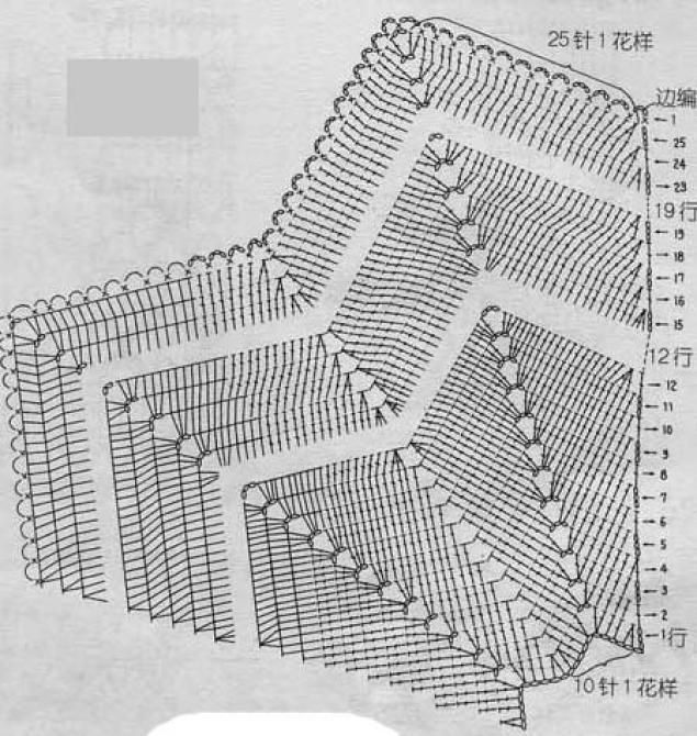 Вязание крючком пуфы зигзаг схемы 16