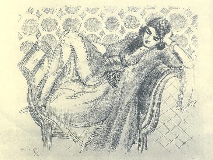 Черно-белая графика знаменитых художников, фото № 26