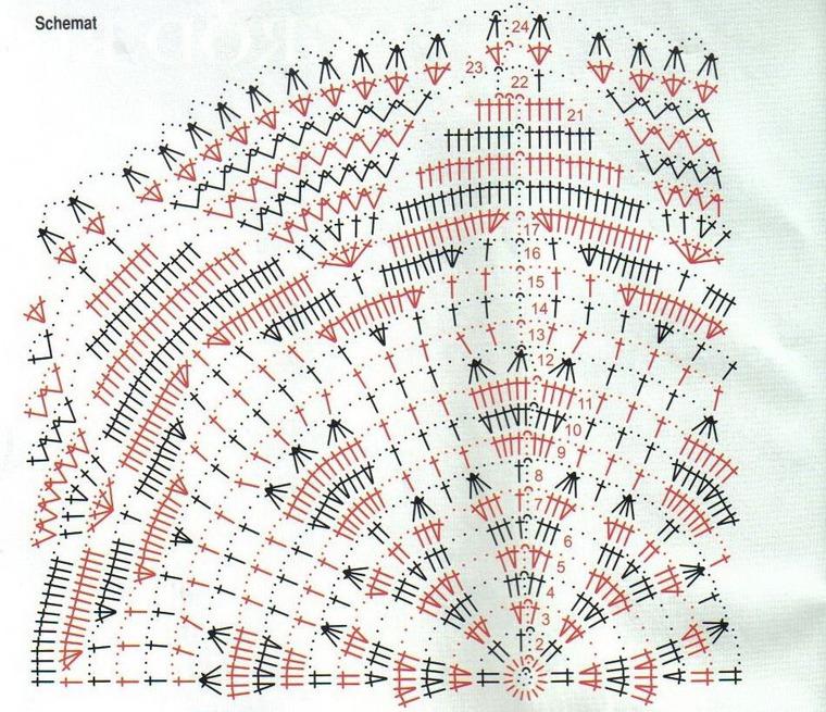 Вязание больших салфеток крючком со схемами 66