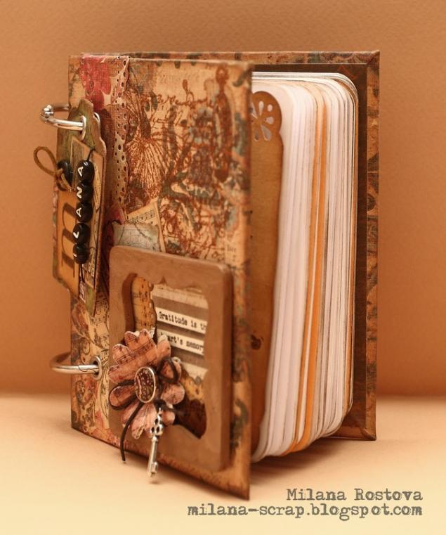 работа с бумагой, подарок к нг, своими руками, блокнот, кулинарная книга, скрапбукинг, мастер-класс