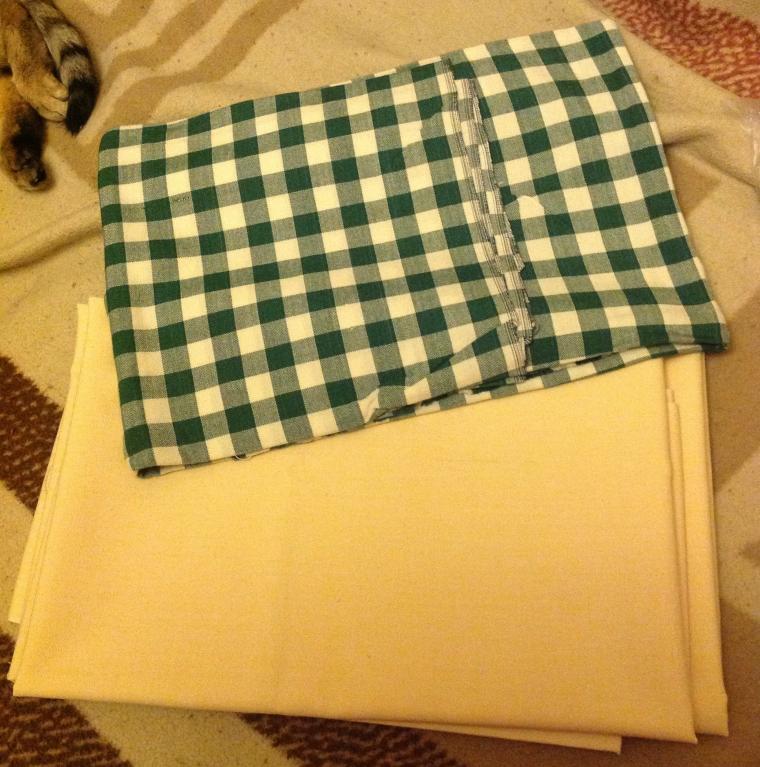 ткань, куски ткани, отрезы ткани, лен