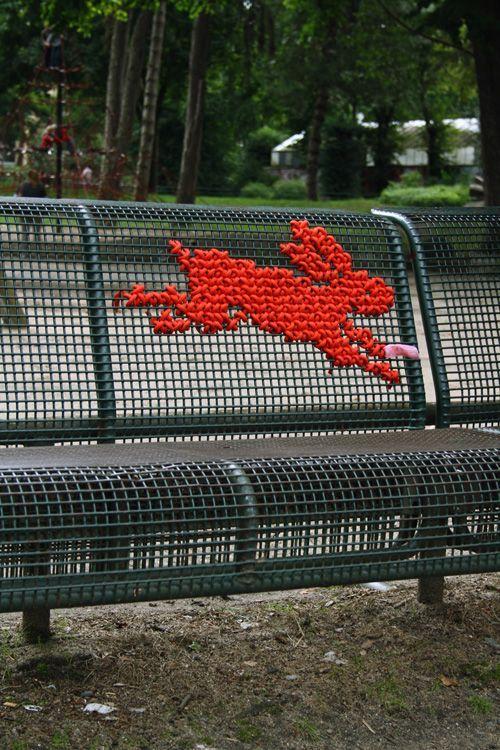 embroidered street art
