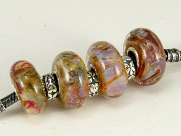 скидка, распродажа украшений, пандора, lampwork, confettini-bead, бусина для браслета