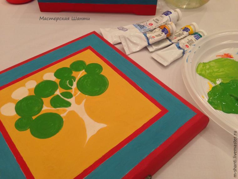 Расписываем яркую шкатулку-развивайку для детей, фото № 15