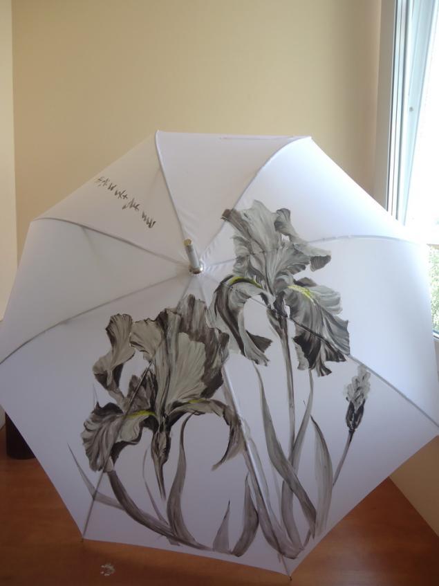 зонт, натали котова, черный, золотой, мастер-класс по живописи, мастер-класс