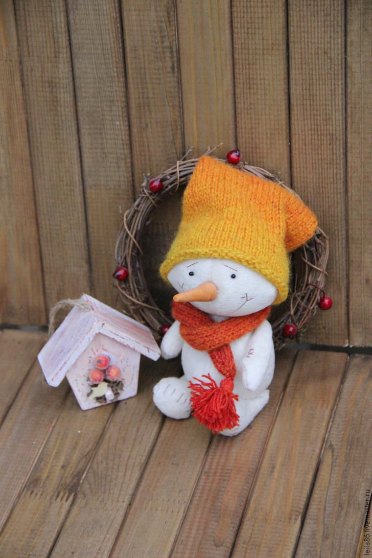Снеговик из меха своими руками фото 942