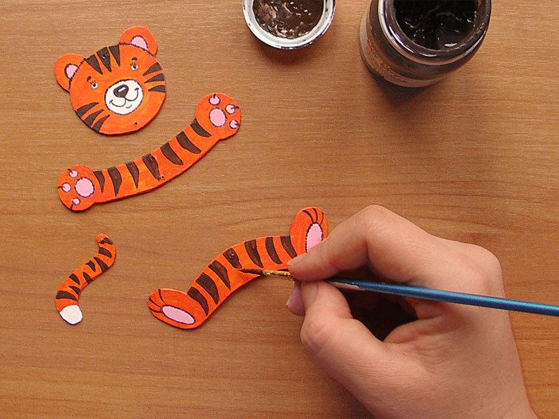 Как сделать поделку тигра своими руками
