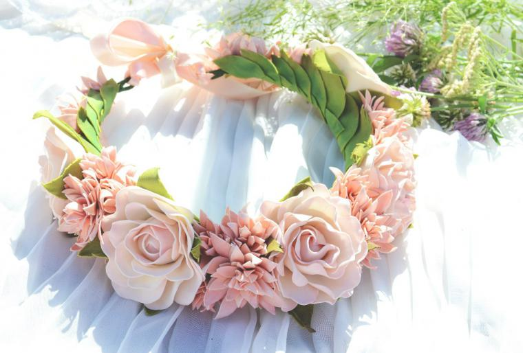 277db6f93f48 фоамиран, мастер класс, роза, нежность, светло розовый, розовый, цветок,