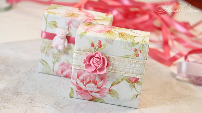 коробочка для подарка, коробка из бумаги