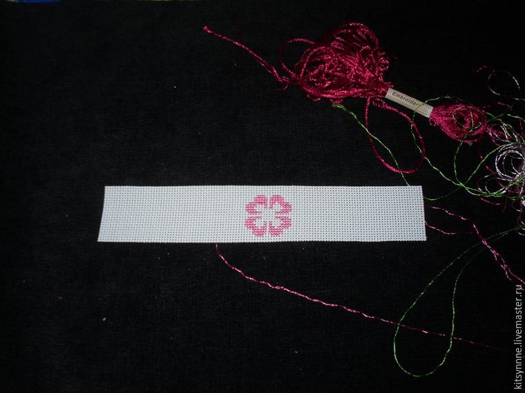 Как сделать браслет с вышивкой «Весеннее настроение», фото № 2