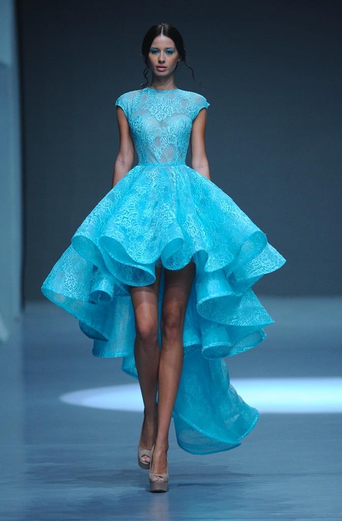 Голубое платье своими руками