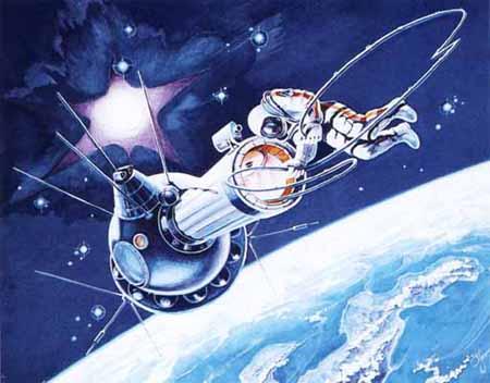 """Космос в живописи. Часть 2: """"Рабочее место - открытый космос"""" - Ярмарка Мастеров - ручная работа, handmade"""