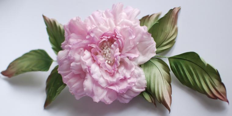 Цветок из шёлка своими руками мастер класс